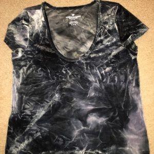 American eagles black/grey velvet shirt!